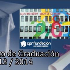 Celebración Acto de Graduación del Curso 2013-2014