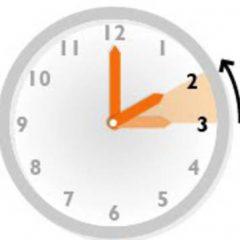 Aviso cambio de horario