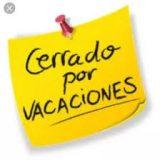 Agosto: cerrado por vacaciones